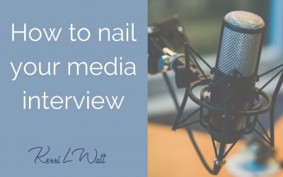 How to nail your upcoming media interview