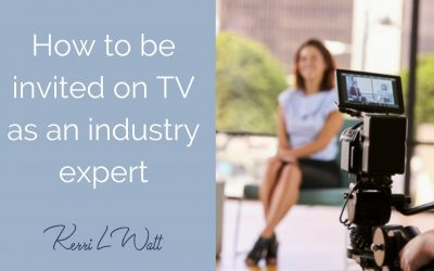 How to be invited on TV as an industry expert
