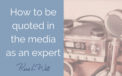 How to be quoted in the media as an expert