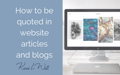 How to be quoted in website articles and blogs